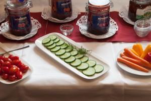 frisches Gemüse Drei Loewen Frühstück